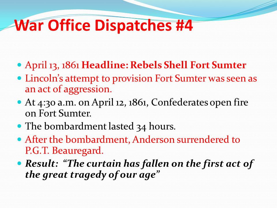 War Office Dispatches #4