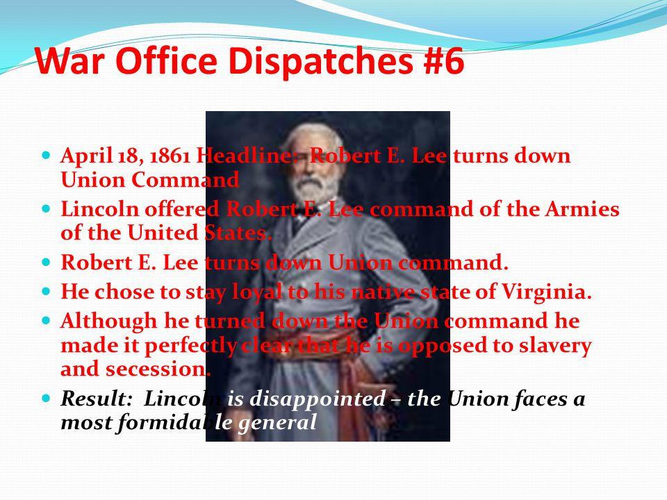 War Office Dispatches #6