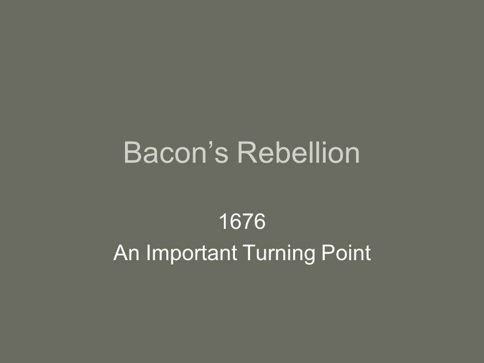 1676 An Important Turning Point