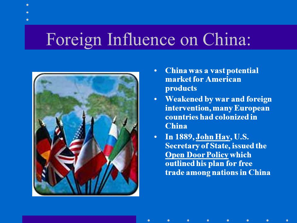 Foreign Influence on China: