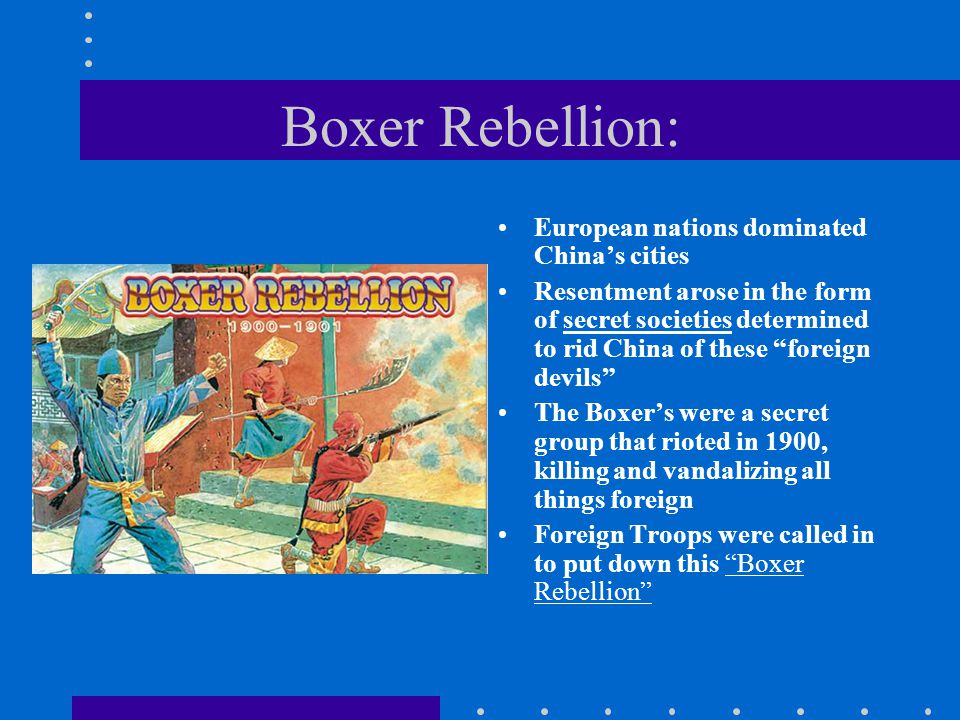 Boxer Rebellion: European nations dominated China's cities