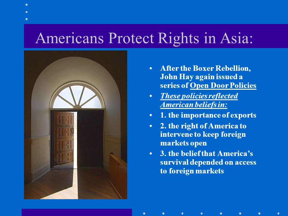 Americans Protect Rights in Asia: