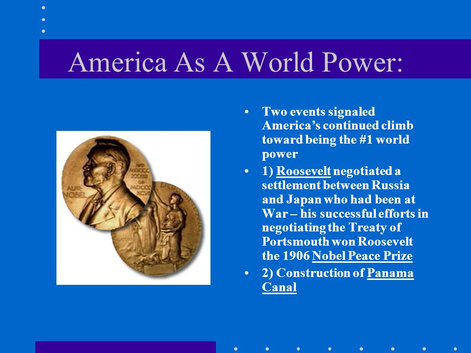 America As A World Power: