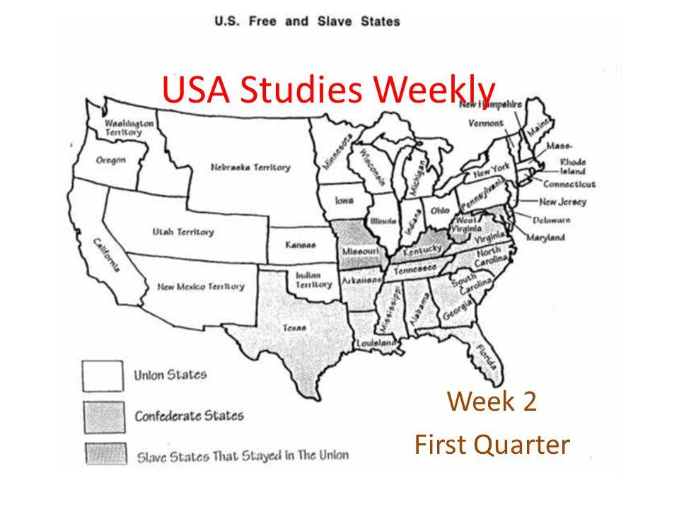 USA Studies Weekly Week 2 First Quarter