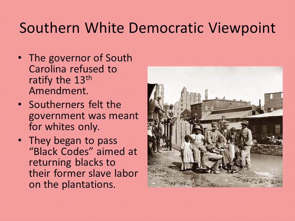 Southern White Democratic Viewpoint