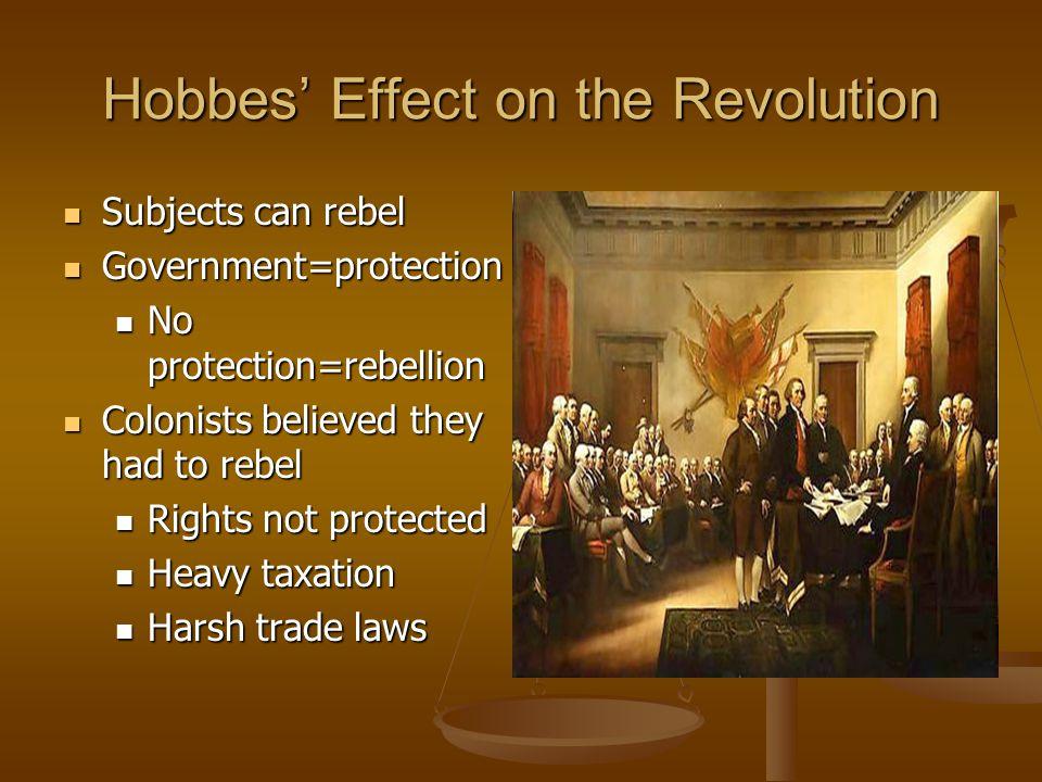 Hobbes' Effect on the Revolution