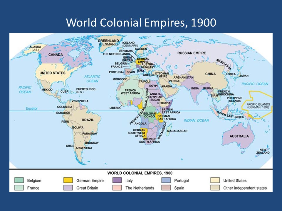World Colonial Empires, 1900