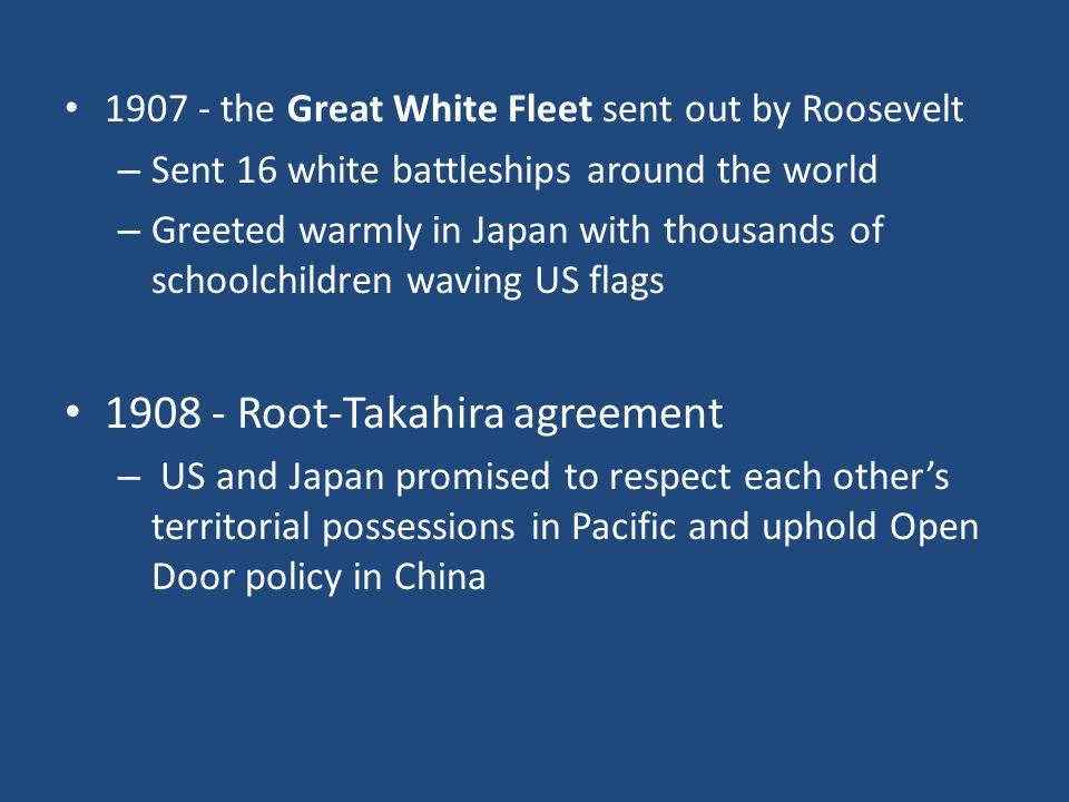 1908 - Root-Takahira agreement