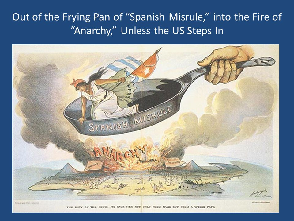 Out of the Frying Pan of Spanish Misrule, into the Fire of Anarchy, Unless the US Steps In