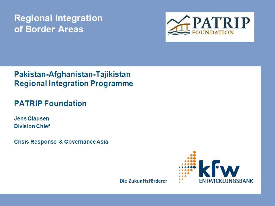 Regional Integration of Border Areas