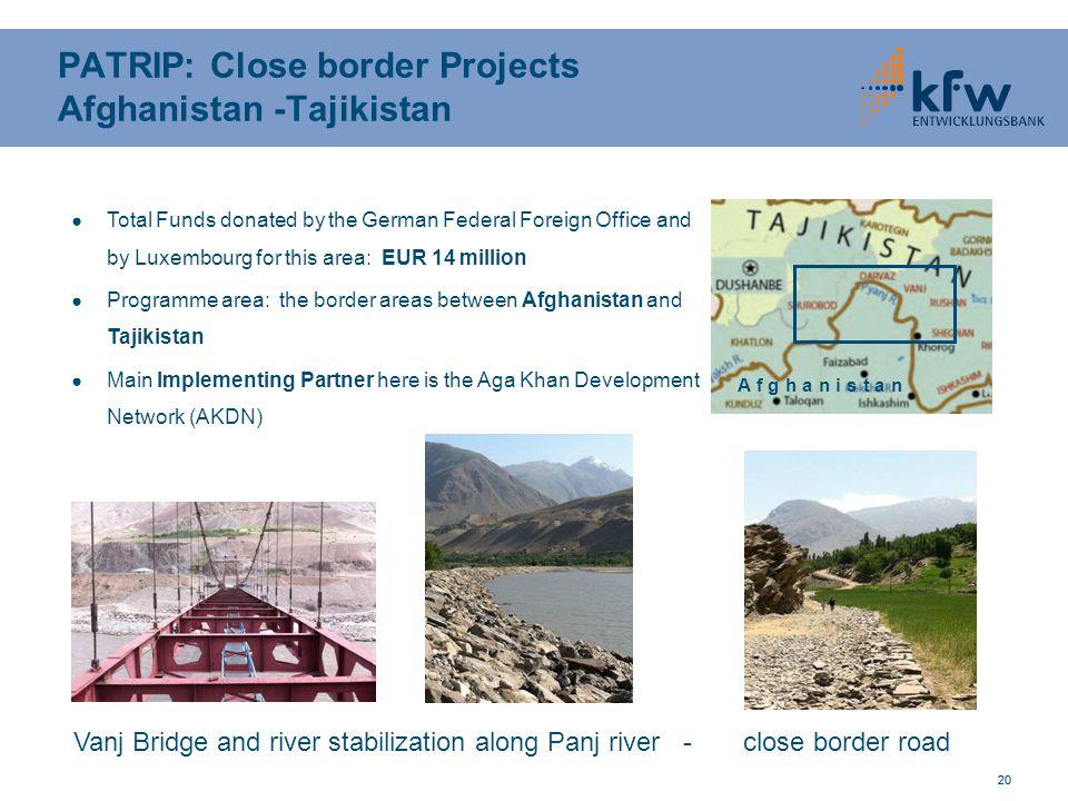 PATRIP: Close border Projects Afghanistan -Tajikistan