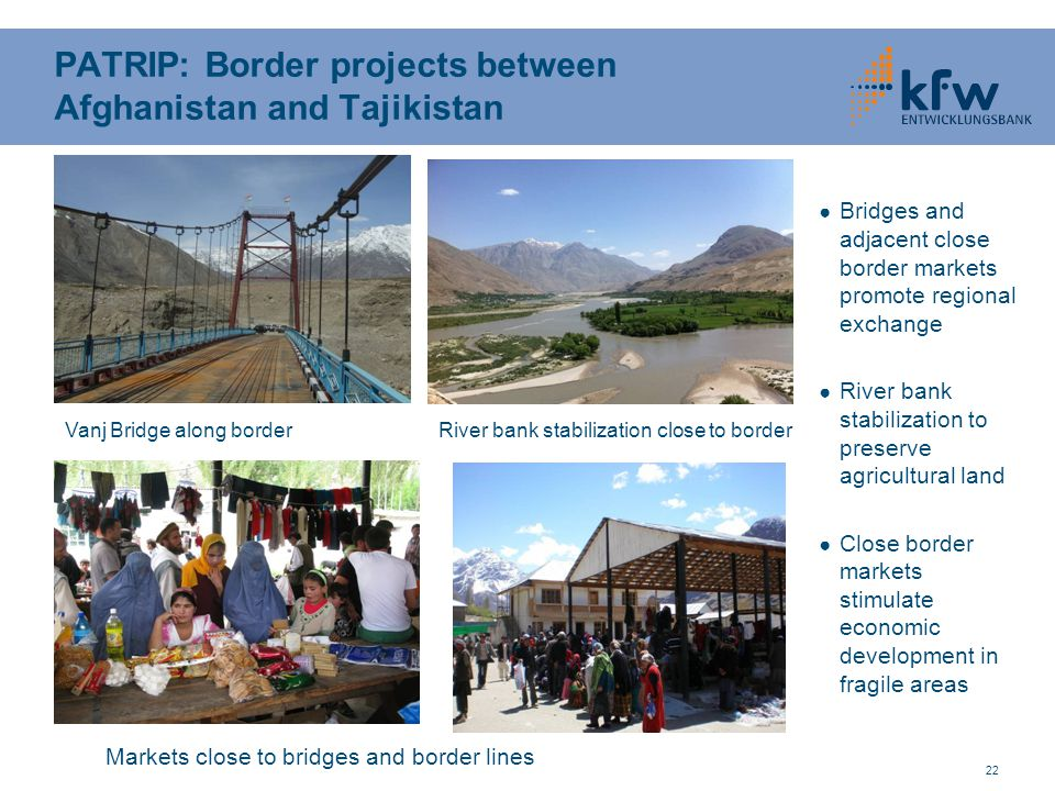 PATRIP: Border projects between Afghanistan and Tajikistan