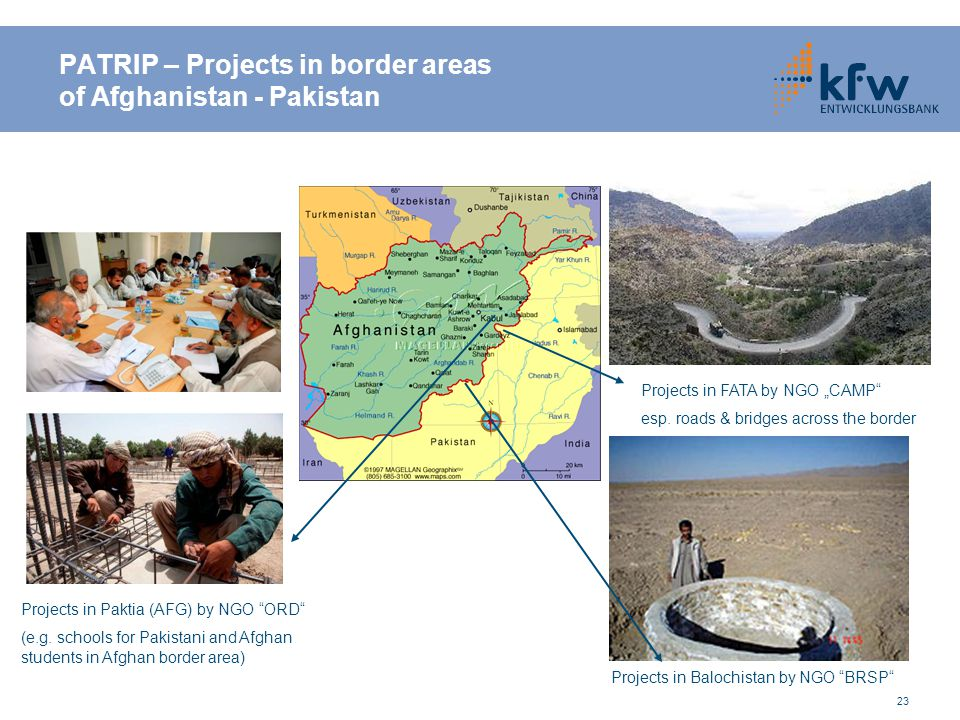PATRIP – Projects in border areas of Afghanistan - Pakistan