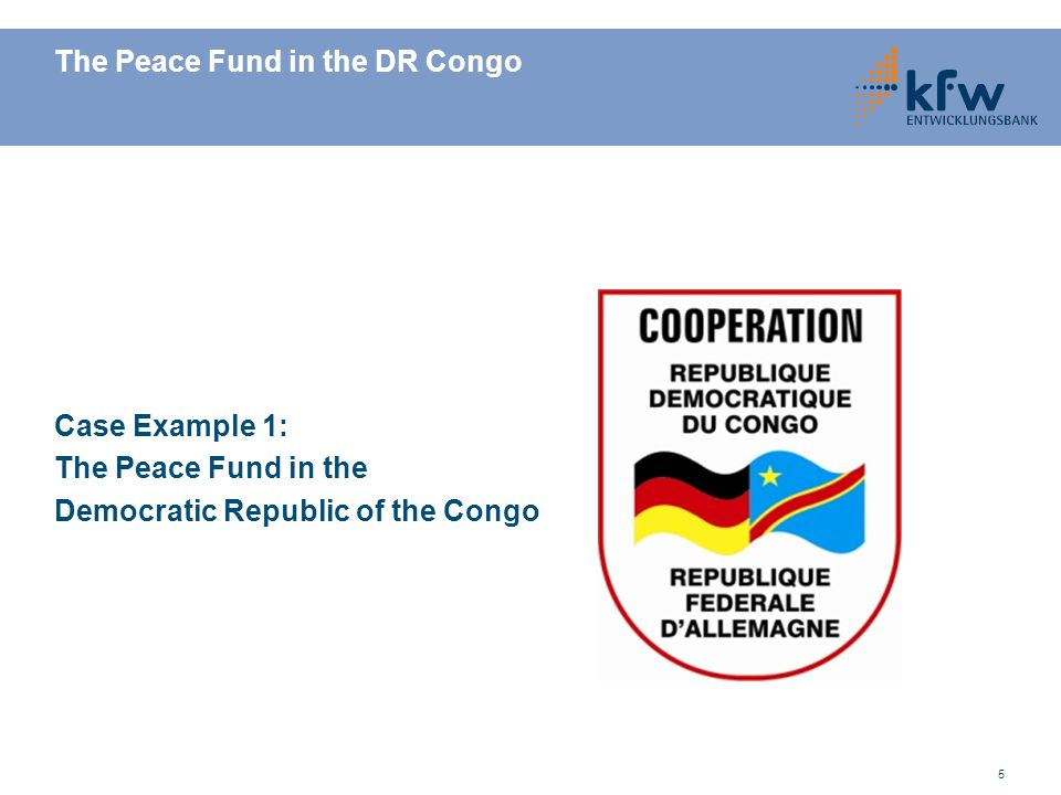 The Peace Fund in the DR Congo