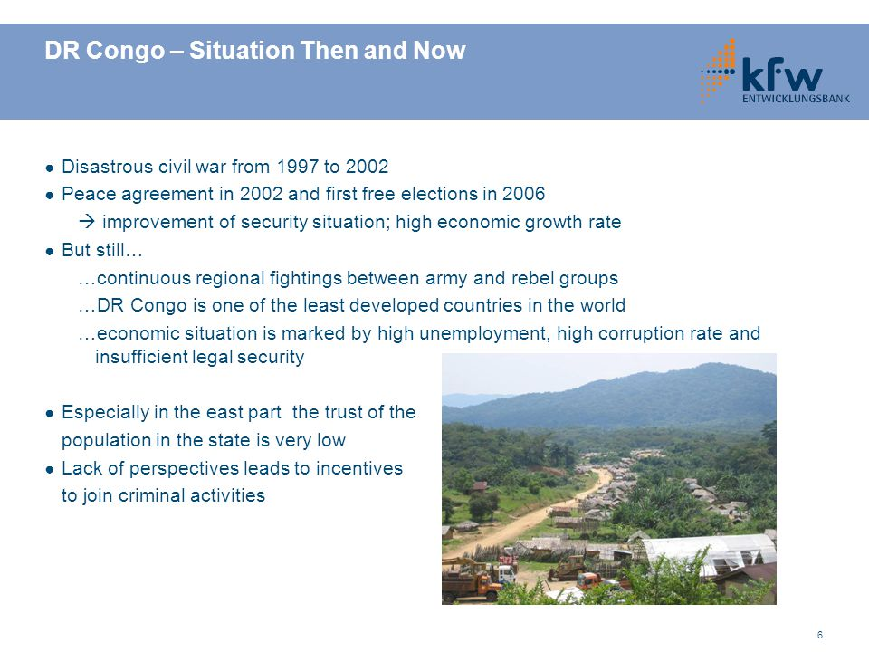 DR Congo – Situation Then and Now