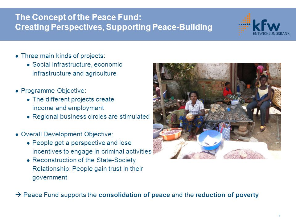 The Concept of the Peace Fund: Creating Perspectives, Supporting Peace-Building