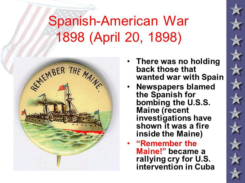 Spanish-American War 1898 (April 20, 1898)