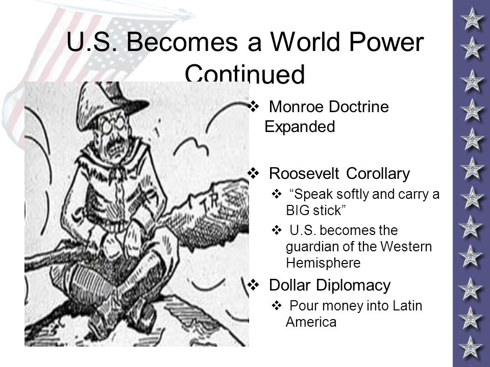 U.S. Becomes a World Power Continued