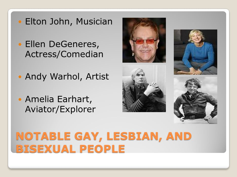 Notable Gay, Lesbian, and Bisexual People
