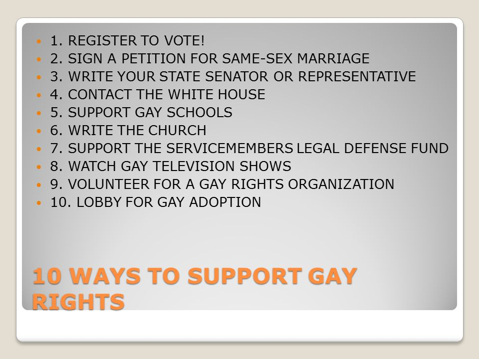 10 Ways to Support Gay Rights