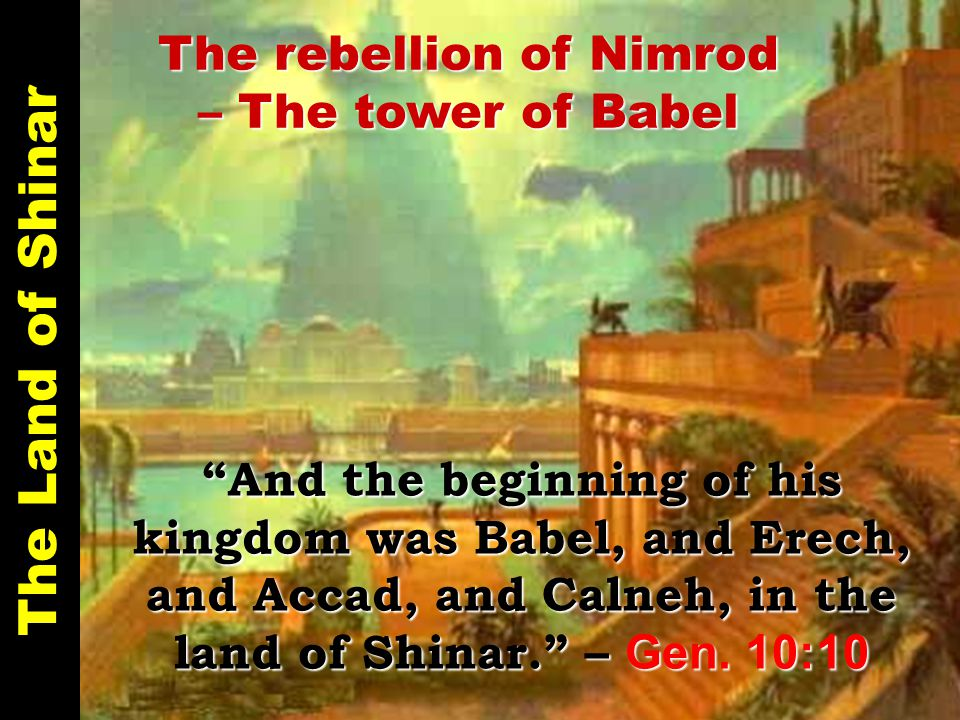 The Land of Shinar Heading