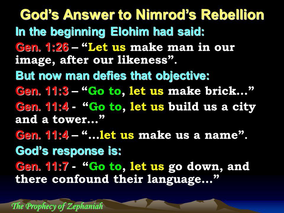 God's Answer to Nimrod's Rebellion