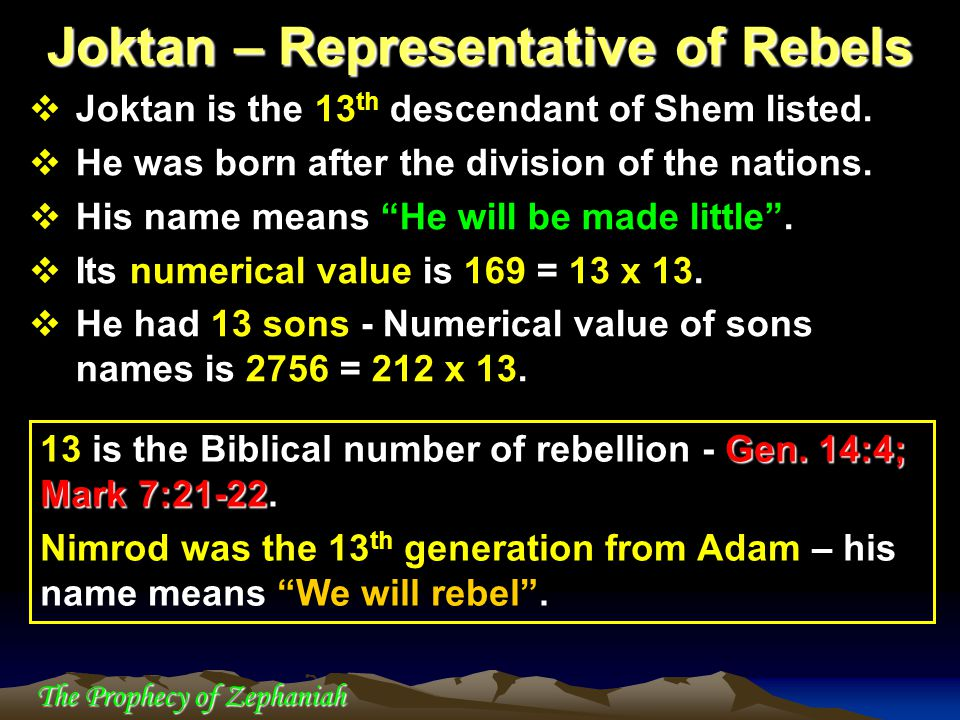 Joktan – Representative of Rebels