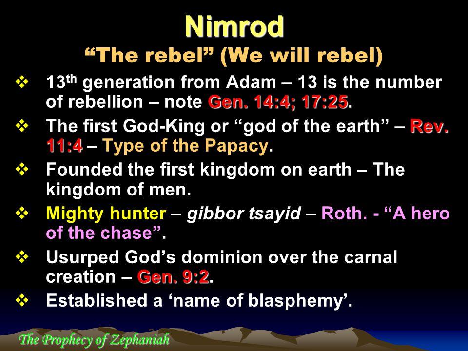 Nimrod The rebel (We will rebel)
