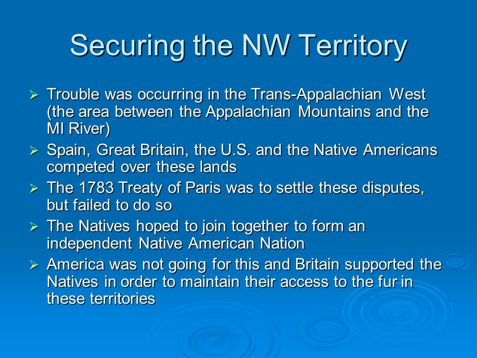 Securing the NW Territory