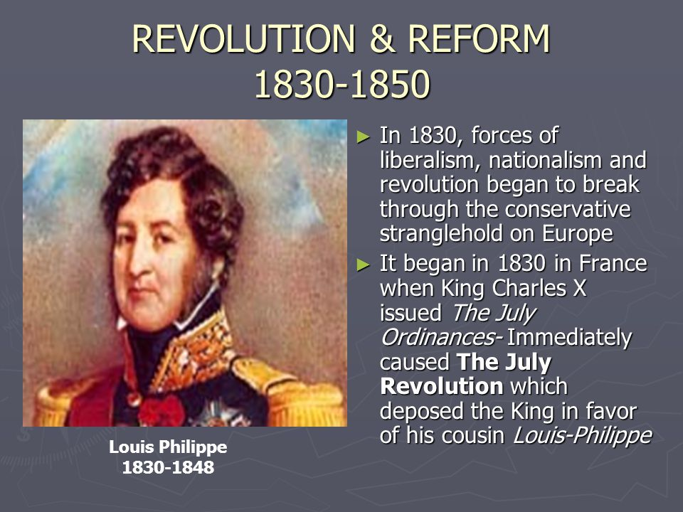 REVOLUTION & REFORM 1830-1850