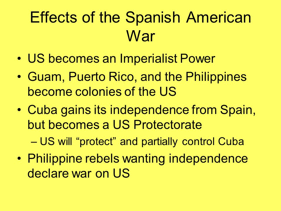 Effects of the Spanish American War