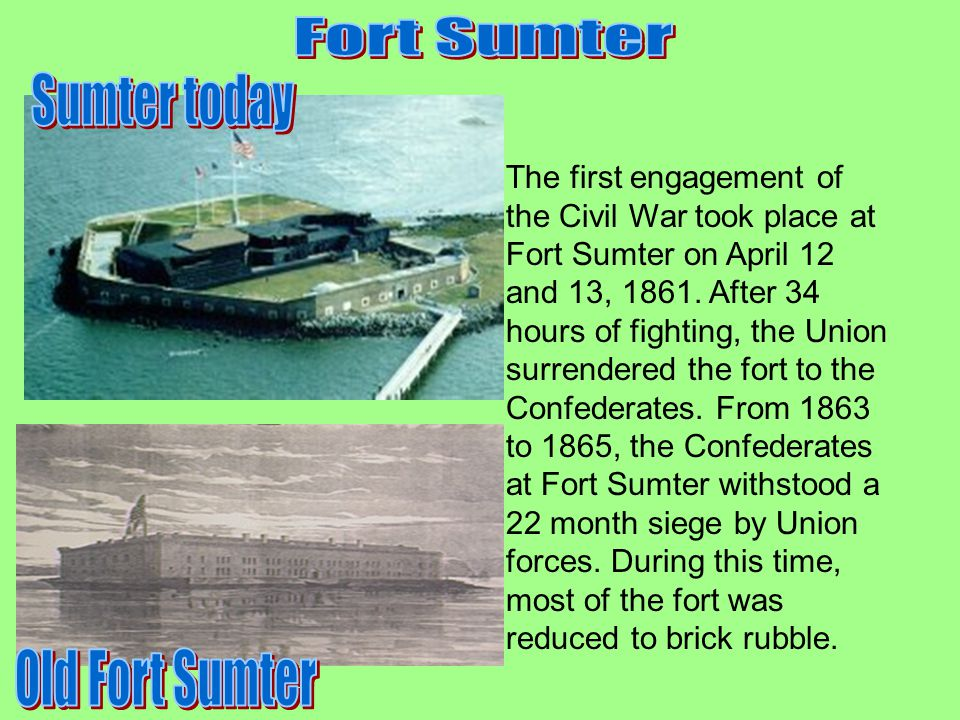 Fort Sumter Sumter today Old Fort Sumter