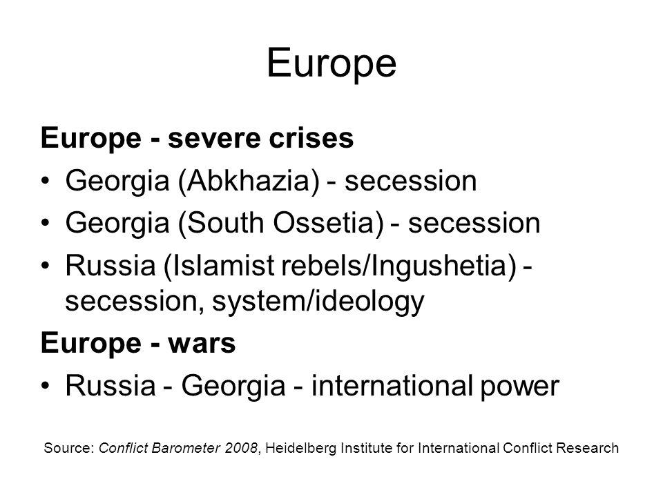 Europe Europe - severe crises Georgia (Abkhazia) - secession
