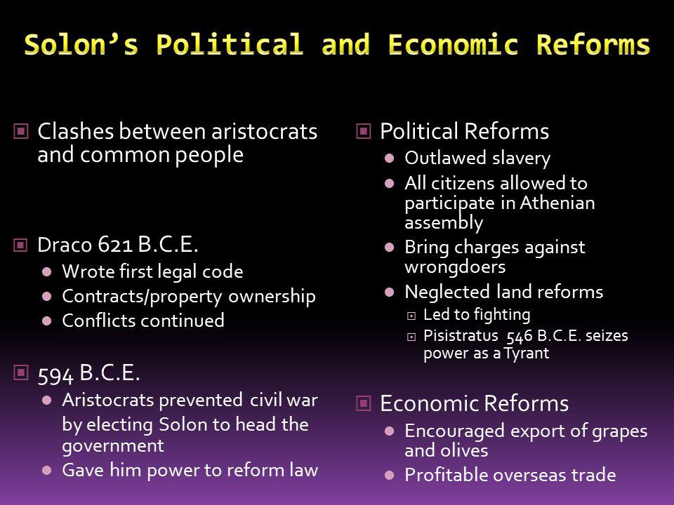 Solon's Political and Economic Reforms
