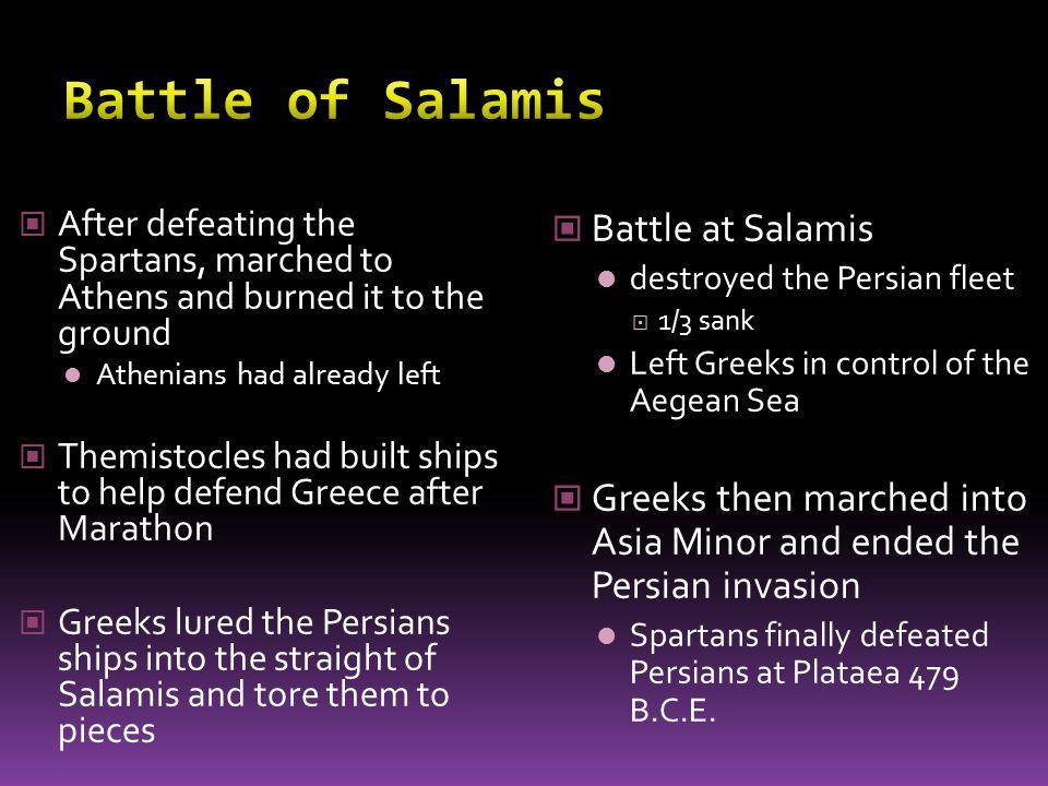Battle of Salamis Battle at Salamis