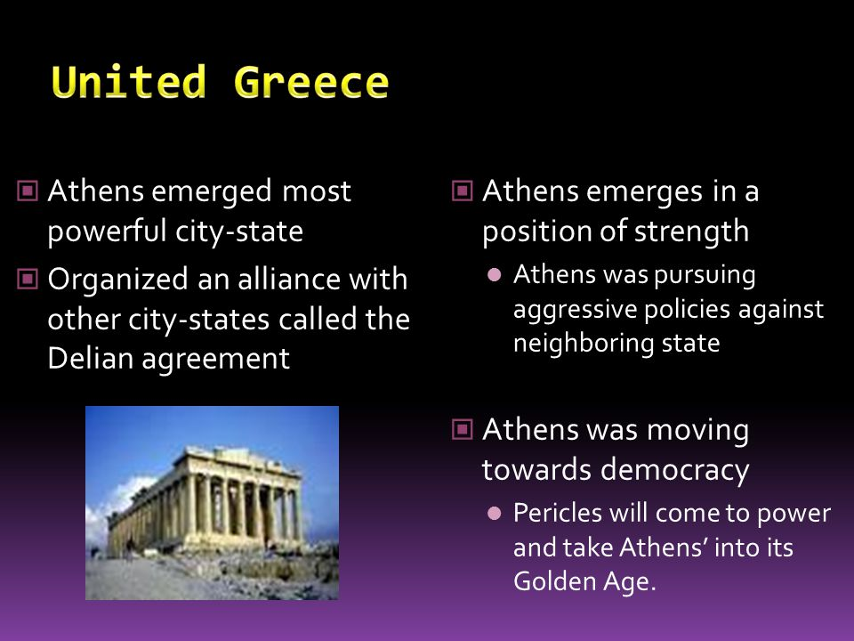 United Greece Athens emerged most powerful city-state