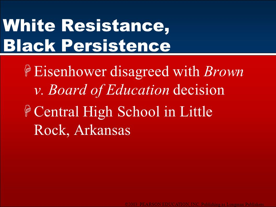 White Resistance, Black Persistence