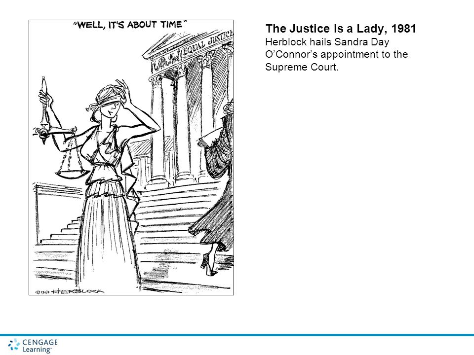 The Justice Is a Lady, 1981 Herblock hails Sandra Day