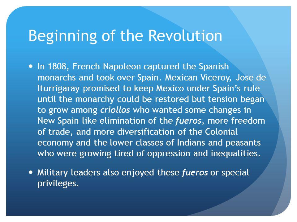 Beginning of the Revolution