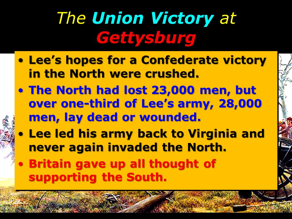 The Union Victory at Gettysburg