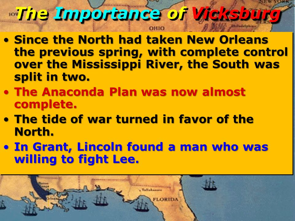 The Importance of Vicksburg