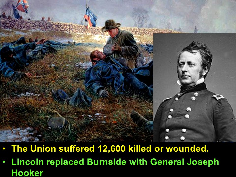The Union suffered 12,600 killed or wounded.