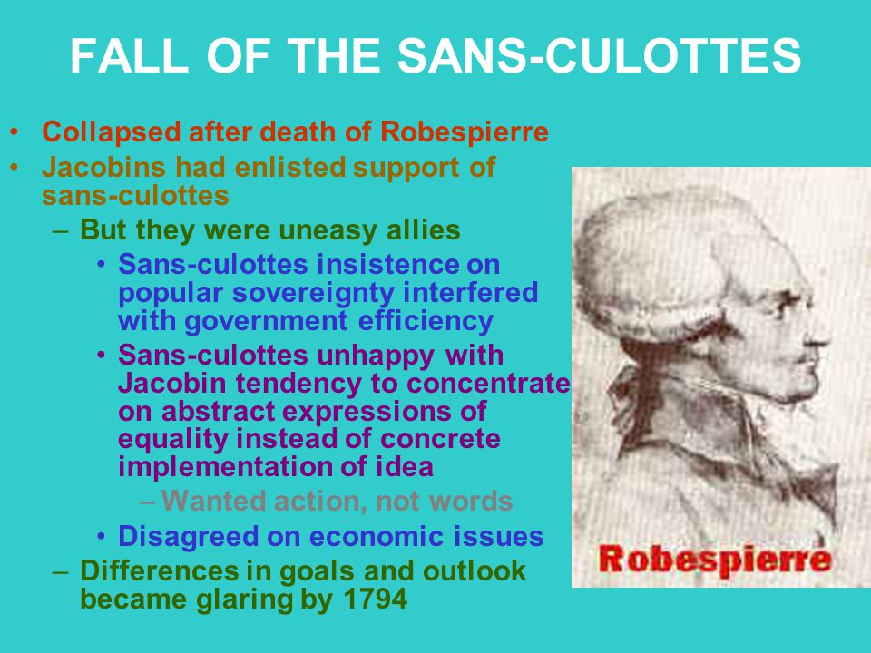 FALL OF THE SANS-CULOTTES