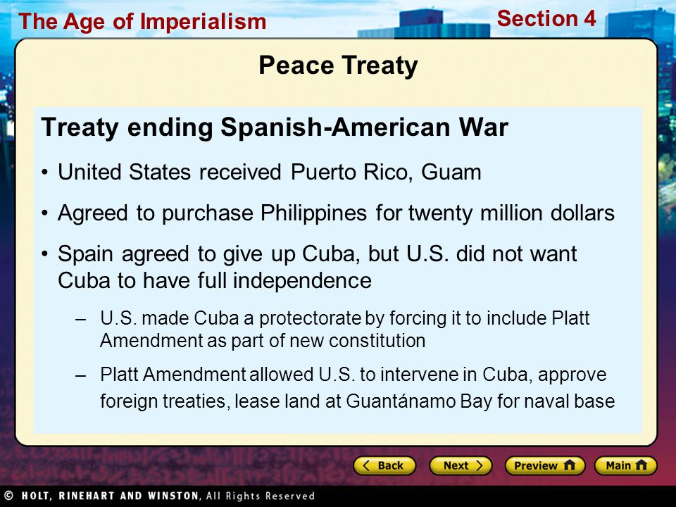 Treaty ending Spanish-American War