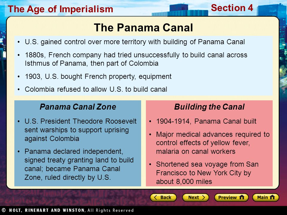 The Panama Canal Panama Canal Zone Building the Canal