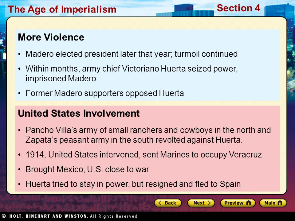 United States Involvement