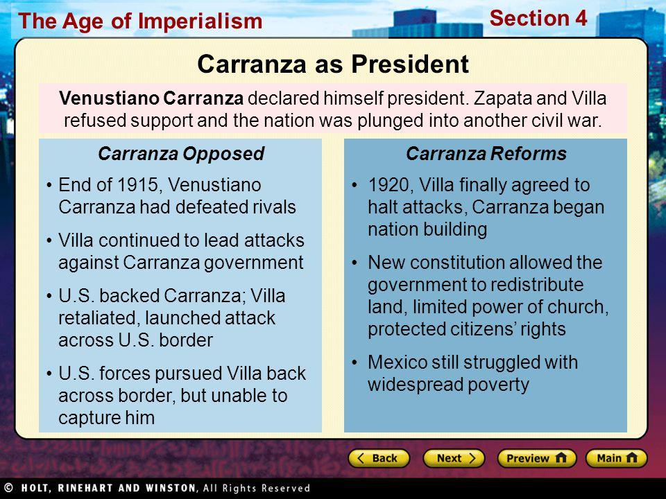 Carranza as President