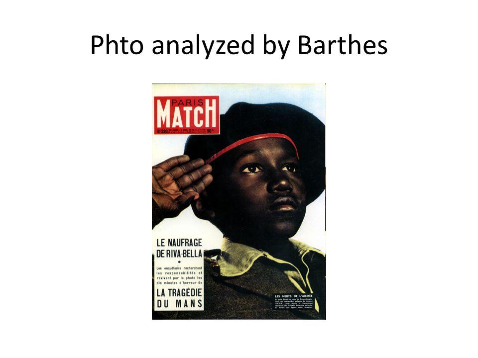 Phto analyzed by Barthes
