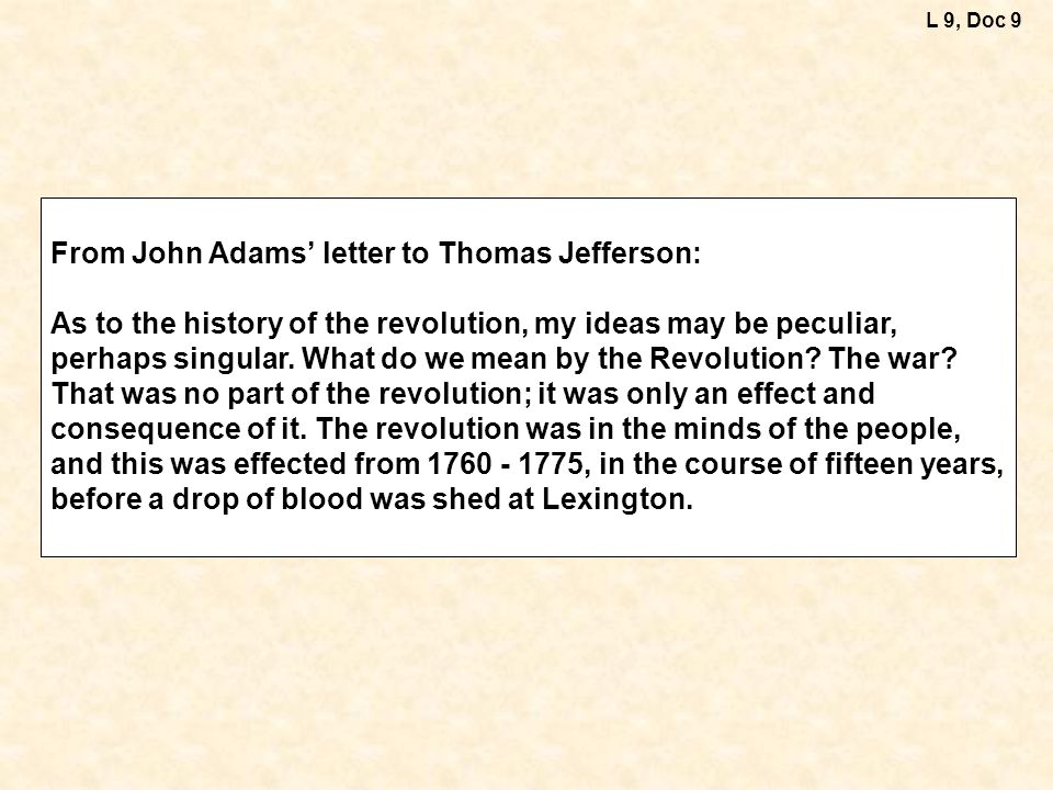 From John Adams' letter to Thomas Jefferson: