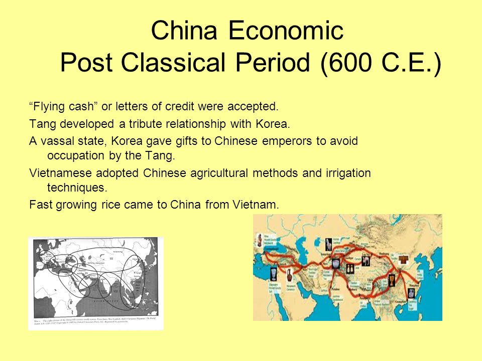 China Economic Post Classical Period (600 C.E.)